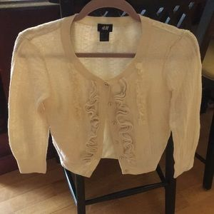Cropped cotton women's sweater by H&M
